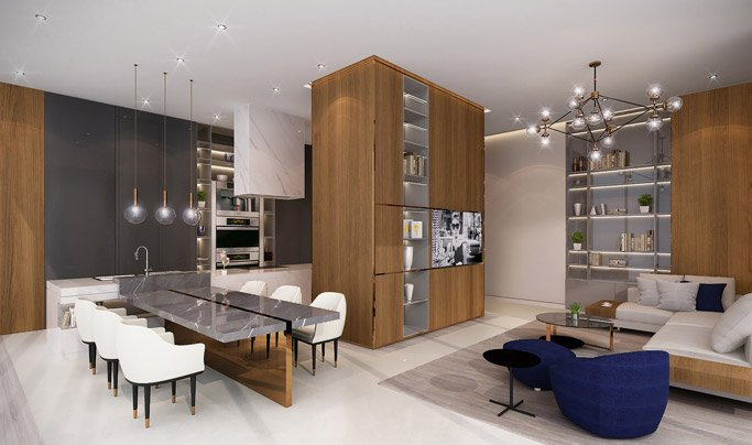 1-4 Bedroom Apartments Noora Tower