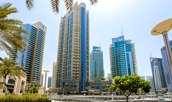Al Habtoor Marina Tower  - Location
